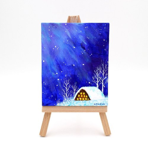 [Winter cottage] Fu Cha Ling · mini paintings