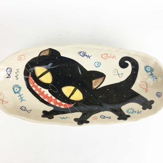 [Chouqing Value Deals] Nice Little Clay Handmade Six-Piece Happy Black Cat 0305-08