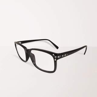 Sparkle tunnel│Anti-blue light glasses with black rectangle frame