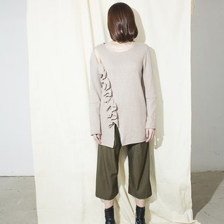 Ruffle-trim sweater AXOXYXOXS