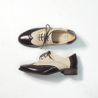 Love Flower Oxford Shoes - Caramel Cocoa