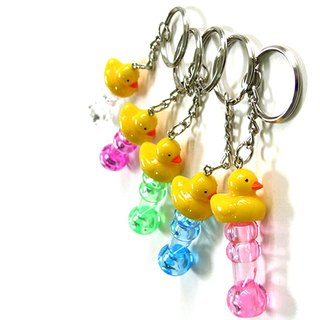 Yellow Duck Character Whistle Key Chain Random Color Delivery Lot of 6
