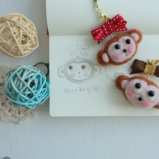 sleeping original hand you are my love monkey ~ [you] is my little monkey pendant / key ring