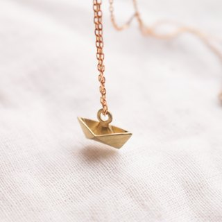 Brass necklace 0484 to set sail