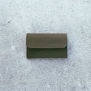 Handmade Canvas Purse-dark olive green