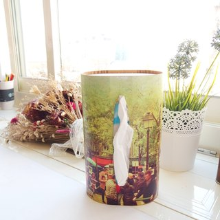 "[Video] wandering horizon ღ pictour creative decorative wooden tissue box ""Song of Montmartre"""
