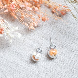 Spring / Stainless Steel / Glass Dome Earrings