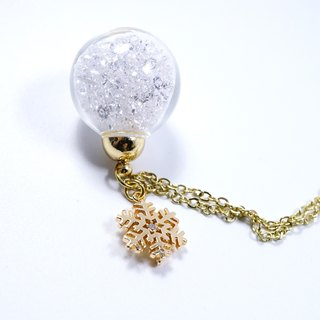 A Handmade Snow White crystal ball necklace