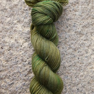 Hand-dyed lines. Sparks bamboo green.