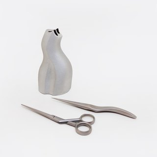 [Collected Art] Early Ancient Parts - German Aluminum Sculpture Double Knife Business Combination | HYN