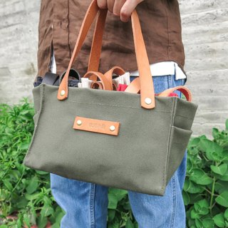Leather sail lunch bag - matcha green large capacity lunch box office worker companion [change tide change bag]
