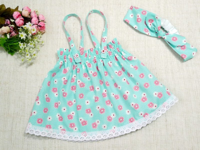 Fresh flowers/baby tops/sleeveless tops/hair bands--birthday gift/year-old gift(out of print)