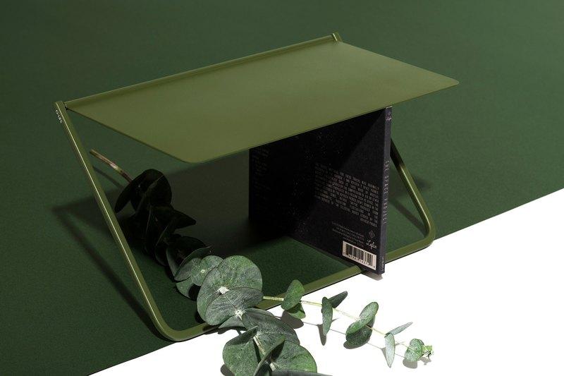 FlipUp/翻轉置物架 - 橄欖綠CD架款