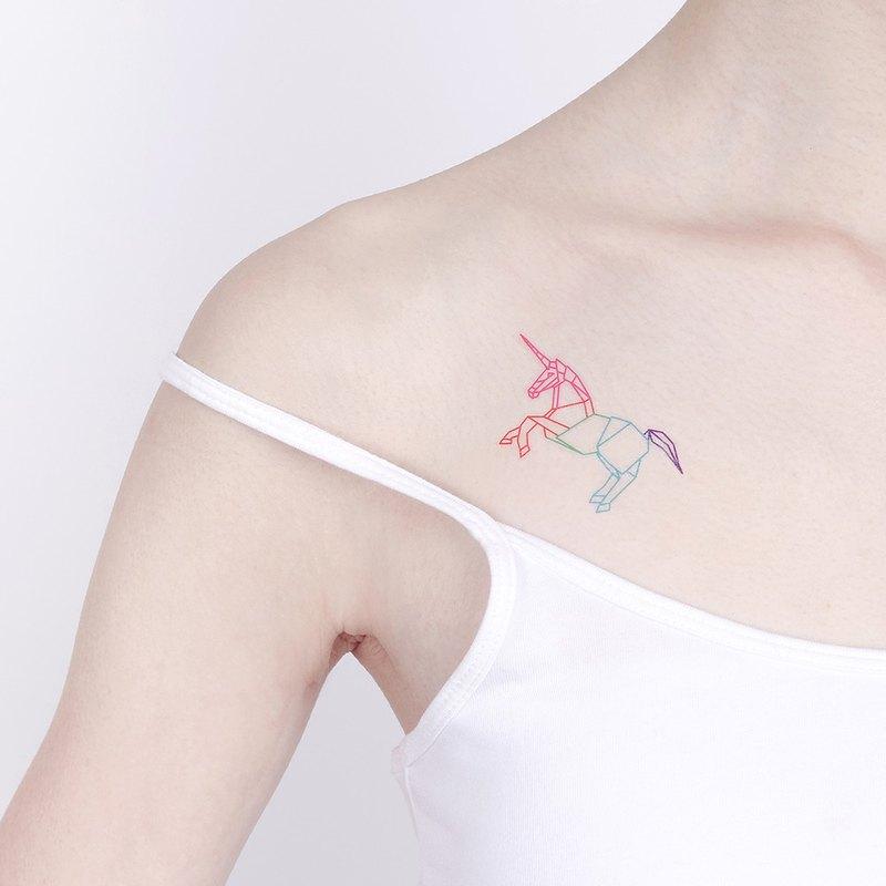 Surprise Tattoos Origami Unicorn Temporary Tattoo Designer Miss