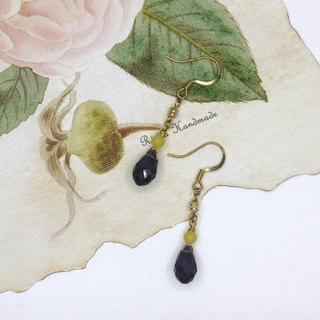 [Riitta] Christmas Gift Exchange Gift Amethyst Chalcedony Earrings (Clip)