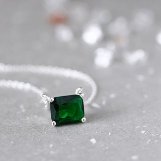 Emerald Square necklace Silver925