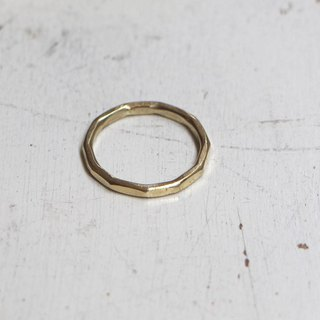 Brass ring multifaceted