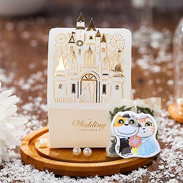 Love Castle Wedding Small Things Cat Meow Tea Customized Handmade Wedding Tea Bag Gift Box Cat Modeling Creative Tea Bag (50 Orders)