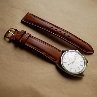 leather watch strap, custom made
