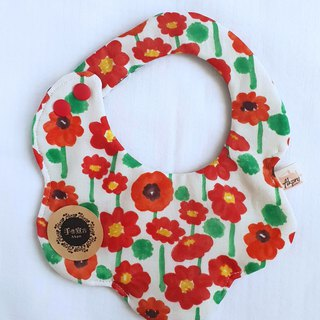 Small round flower - eight-layer yarn with arc double sided bib