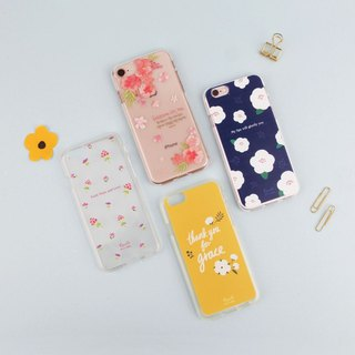 Flower Flower Transparent Jelly Mobile Shell A total of 10 patterns can be customized