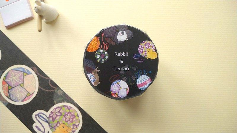 兔兔手鞠紙膠帶