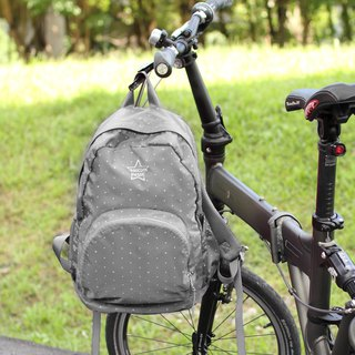 Light-Fold Stars Water Stop Backpack(14'' Laptop OK)-Grey_100328-03