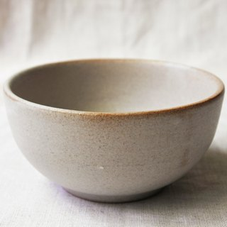 White glaze big dessert bowl
