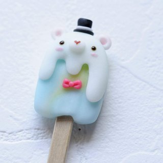 :│Sweet Dream│: The taste of summer: Meng Meng Xiong Popsicle - gentleman bear / key ring / gift