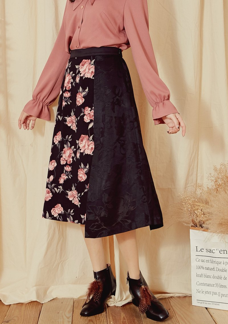 MIT Romantic Floral Design Open Skirt (R6032B)