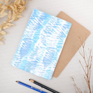 :Water wave: Hadmade Tie dye Book Cover for A5 Adjustable Xmas gifts