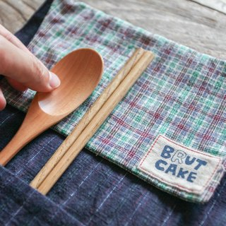 Brut Cake handmade fabric - reel utensil carrier (7), eco friendly, easy to wash.