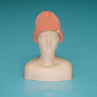 Plain - orange powder OTB008 hand-woven wool cap
