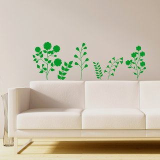 """Smart Design"" Creative Seamless wall stickers with flowers and grass ◆ 8 color options"