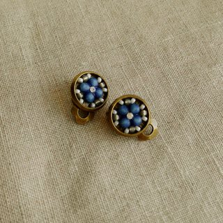 Deco tiles Earrings MAJOLICA blue mosaic beads