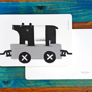 mumu-purpose card / postcard - black and white tapir