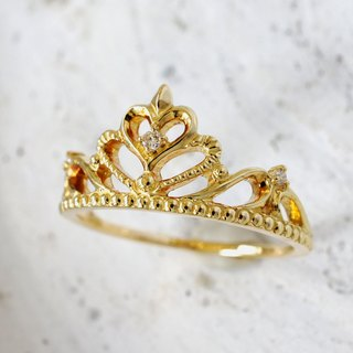 Tiara Ring (Heart · K18YG)