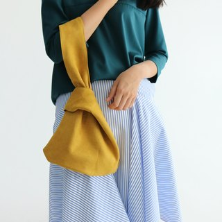 Desmond Tote- Ochre Suede Wrap Tote Bag (Other colors available)