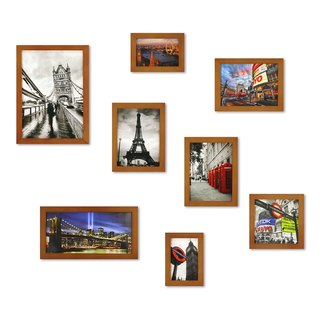 HomePlus Photoframe Brown 8PCS City Decor Loft