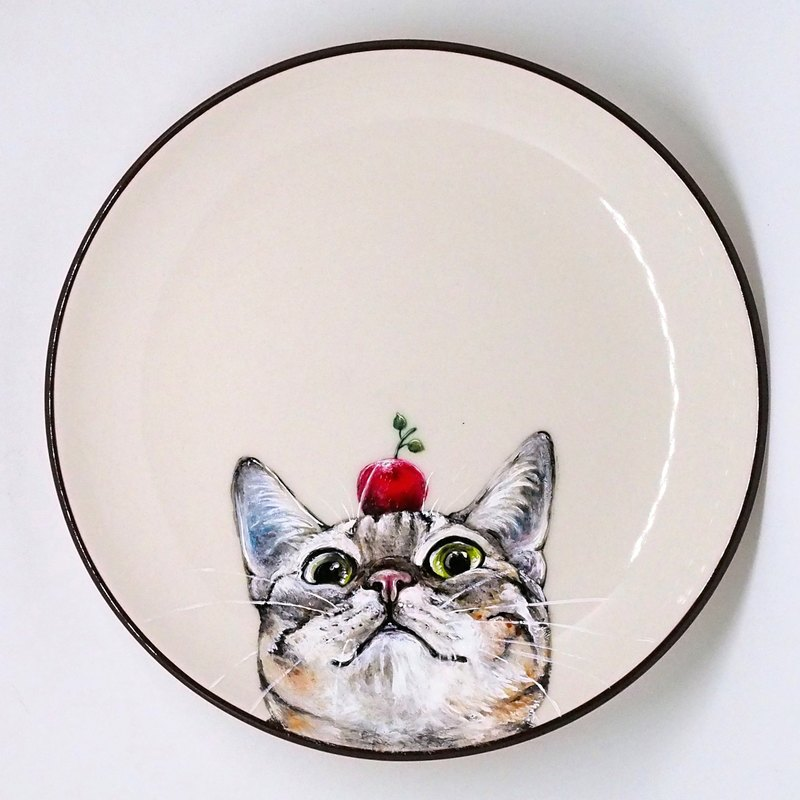Wall Mounted Decorative Plate Snack Plate Series Small Apple In