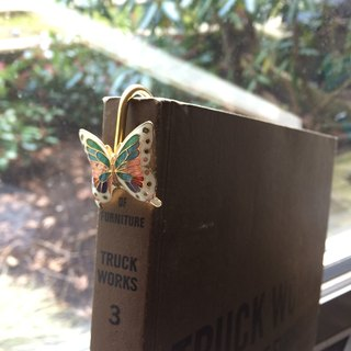 Butterfly painted metal perspective bookmark