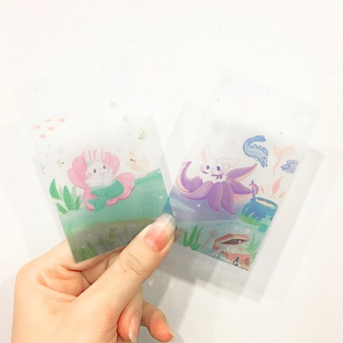 The Little Mermaid x Bunny *  Plastic sheet 4/group