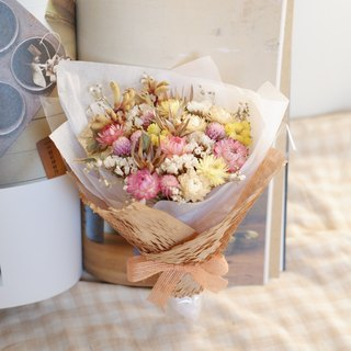 Unable to continue | pink and yellow withered flowers bouquet wedding small gifts gifts wedding arrangements bridesmaid house home furnishings decorations office small things healing Valentine's Day barrise spot