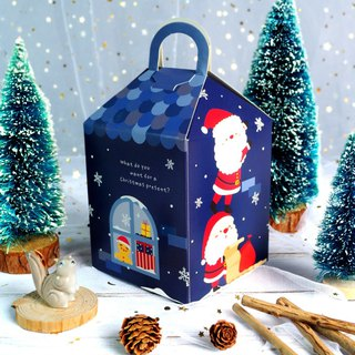 [Christmas gift] Christmas cabin suitcase / 6 integrated handmade biscuits / chocolate / exchange gift gift box