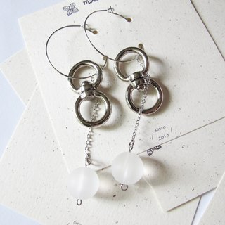 mint neiff I Star Series I double circle adapter Mercury thin silver ring earrings I wear