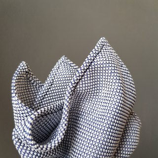 Pocket Square - Blue White Dot