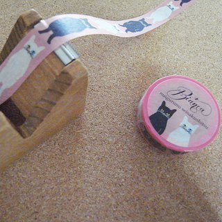 Black cat & White cat Maskingtape (pink)