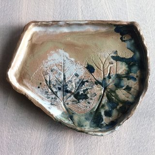 Ye Tuo ink irregular plate _ pottery dishes