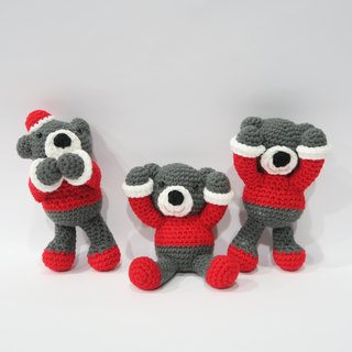 Aprilnana_ Evil Evil listen to words Evil, Bear, Bear, wool dolls, cute strap, woven dolls