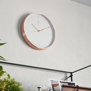 Dodeka- Collection Metal Silent Clock Wall Clock (White)